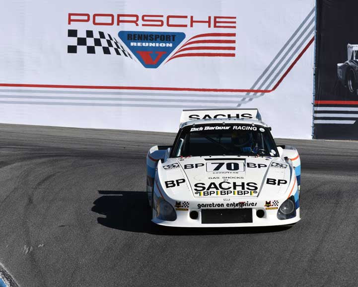 Charles Nearburg with 1980 Porsche 935 K3 in Group 5 - Carrera Trophy at the 2015 Rennsport Reunion V, Mazda Raceway Laguna Seca