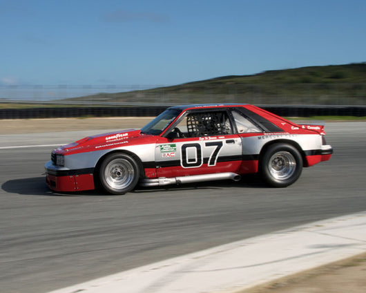 Les Werling with 1982 Mercury Capri at the 2016 HMSA LSR Invitational I at Mazda Raceway Laguna Seca