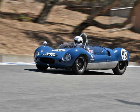 Terry Hefty with 1959 Cooper Monaco T49 in Group 3B - 1955-1961 Sports Racing Cars under 2000cc at the 2015-Rolex Monterey Motorsport Reunion, Mazda Raceway Laguna Seca