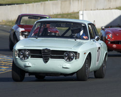 Patrick Hung driving his 1967 Alfa Romeo GT Jr in Group 1 at the 2015 CSRG David Love Memorial Vintage Car Road Races at Sonoma Raceway