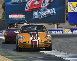 Enzo Potolicchio with 1967 Porsche 911S in Group 3 - Eifel Trophy at the 2015 Rennsport Reunion V, Mazda Raceway Laguna Seca