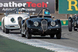 Lars Mapstead - 1951 Jaguar XK120 in Group 5A - 1947-1955 Sports Racing and GT Cars at the 2017 Rolex Monterey Motorsport Reunion run at Mazda Raceway Laguna Seca