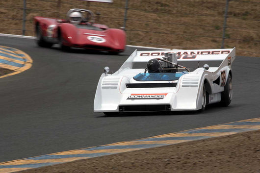 Emmett Murphy with 1972 McLaren M8FP in Group 11 at the 2016 SVRA Sonoma Historics - Sears Point Raceway