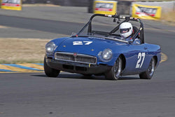 Randall Stark - 1974 MGB in 1956-72 Production & GT Cars under 2000cc - Group 9 at the 2017 SVRA Sonoma Historic Motorsports Festivalrun at Sonoma Raceway
