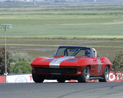 Richard Orme driving his 1963 Chevrolet Corvette in Group 3 at the 2015 CSRG David Love Memorial Vintage Car Road Races at Sonoma Raceway