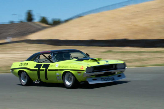 Richard Goldsmith with 1970 Dodge Challenger in Group 10 at the 2016 SVRA Sonoma Historics - Sears Point Raceway