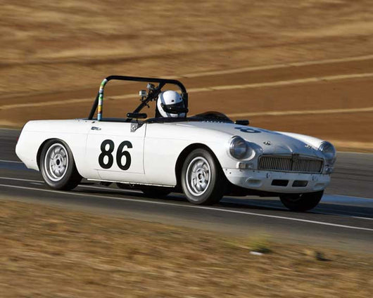 Dean Collins with 1963 MGB in  Group 2 at the 2015 Season Finale at Thunderhill Raceway