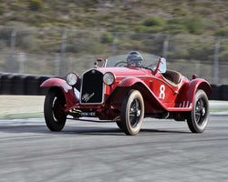 Bruce McCaw with 1933 Alfa Romeo 6C1750 in Group 1A - Pre 1940 Sports Racing and Touring Cars at the 2015-Rolex Monterey Motorsport Reunion, Mazda Raceway Laguna Seca