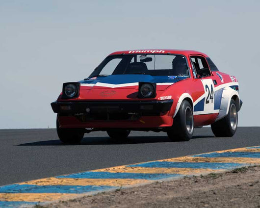 Richard North with 1976 Triumph TR7V8 in Group 10 at the 2016 CSRG David Love Memorial - Sears Point Raceway