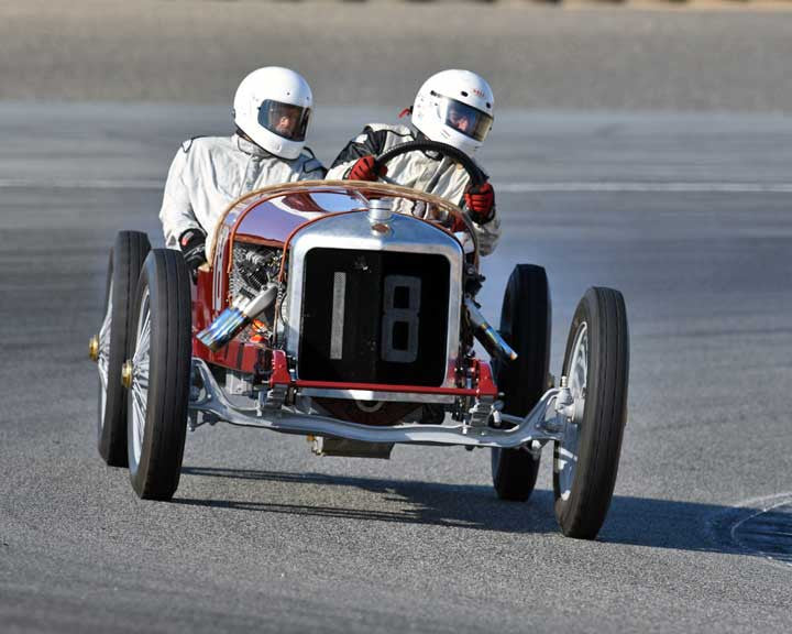 Brian Blain with 1916 AuburnwithSturtivant Sturtivant in Group 1A - Pre 1940 Sports Racing and Touring Cars at the 2015-Rolex Monterey Motorsport Reunion, Mazda Raceway Laguna Seca