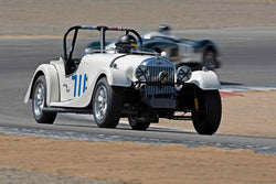 Doug Sallen - 1952 Morgan Plus 4 in Group 5A - 1947-1955 Sports Racing and GT Cars at the 2017 Rolex Monterey Motorsport Reunion run at Mazda Raceway Laguna Seca