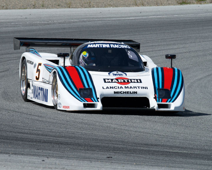 Bruce Canepa with 1983 Lancia LC2 at the 2016 HMSA LSR Invitational I at Mazda Raceway Laguna Seca