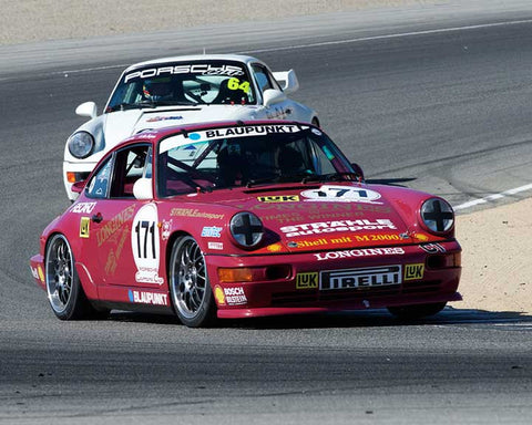 Alan Benjamin with 1990 Porsche Cup in Group 6 - Stuttgart Cup at the 2015 Rennsport Reunion V, Mazda Raceway Laguna Seca