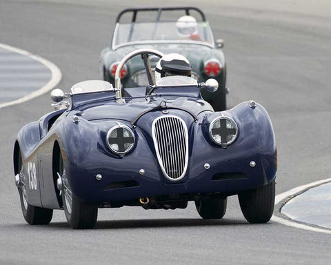 Tim Barnes with 1951 Jaguar XK 120 in  Group 1 at the 2015 Season Finale at Thunderhill Raceway
