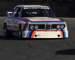 Thor Johnson driving his 1970 BMW 2800cs in Group 8 at the 2015 CSRG David Love Memorial Vintage Car Road Races at Sonoma Raceway