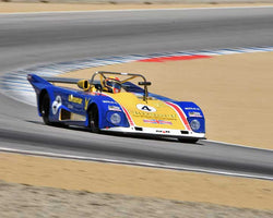 Mike Thurlow with 1973 Lola T294 in Group 6A - FIA Manufacturers Championship Cars at the 2015-Rolex Monterey Motorsport Reunion, Mazda Raceway Laguna Seca