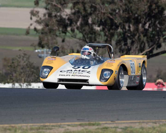 John Delane with 1971 Lola T212 in Group 7  at the 2016 CSRG David Love Memorial - Sears Point Raceway