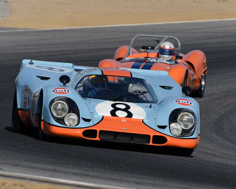 Charles Nearburg with 1969 Porsche 917 in Group 4 - Weissach Cup at the 2015 Rennsport Reunion V, Mazda Raceway Laguna Seca