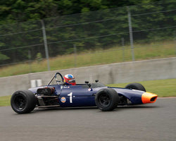 Travis Engen with 1970 Chevron B 17B in Group 1 at the 2015 Sommet des LíÁíÁ__gendes at Mt Tremblant