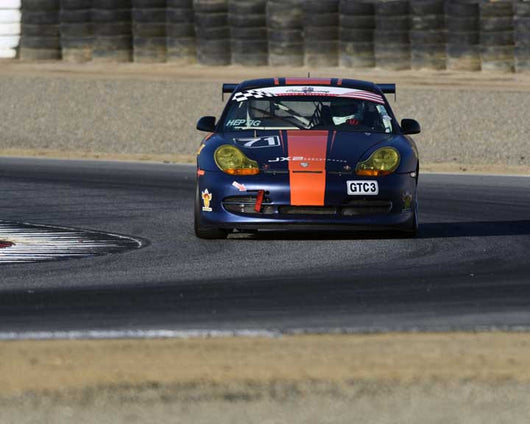 Pat Heptig with 2000 Porsche 996 GT3 Cup in Group 1 - PCA Sholar-Friedman Cup at the 2015 Rennsport Reunion V, Mazda Raceway Laguna Seca