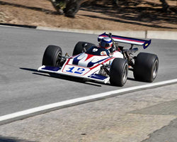 Seb Coppola with 1970 Lola T192 in Group 7B - 1968-1978 Formula 5000 Cars at the 2015-Rolex Monterey Motorsport Reunion, Mazda Raceway Laguna Seca