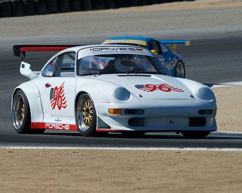 Charles Goldsborough with 1996 Porsche 993 RSR in Group 6 - Stuttgart Cup at the 2015 Rennsport Reunion V, Mazda Raceway Laguna Seca
