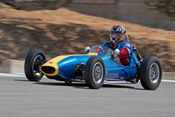 Lawrence Francis - 1960 Huffaker BMC Mk1 in Group 2B - 1958-1960 Formula Jr. - front engine or drum brakes at the 2017 Rolex Monterey Motorsport Reunion run at Mazda Raceway Laguna Seca