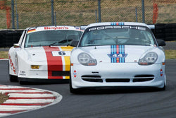 Ernie Spada with 1999 Porsche 911 Cup in Group 6 & 10 -  at the 2016 Portland Vintage Racing Festival - Portland International Raceway