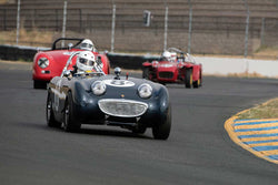 Peter Smith with 1958 Austin Healey Sprite in Group 3 -  at the 2016 SVRA Sonoma Historics - Sears Point Raceway