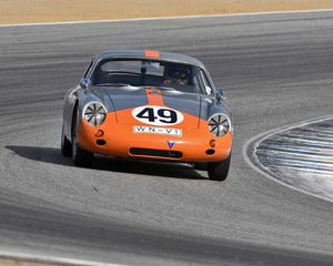 Ranson Webster with 1961 Porsche Abarth Carerra in Group 2A - 1955-1962 GT Cars at the 2015-Rolex Monterey Motorsport Reunion, Mazda Raceway Laguna Seca