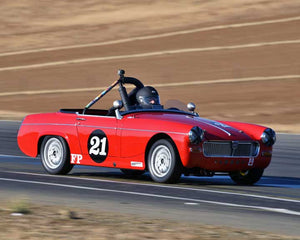 Bill Greenman with 1967 MG Midget in  Group 2 at the 2015 Season Finale at Thunderhill Raceway