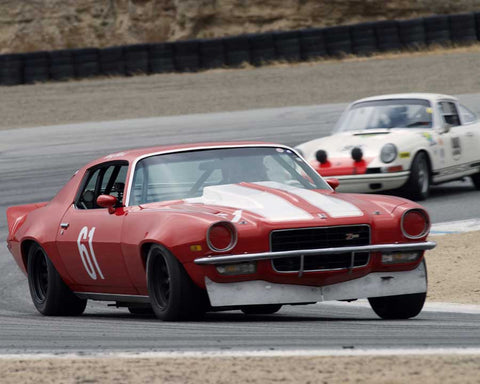Tony Hart driving his Chevrolet Camaro in Group 6 at the 2015 HMSA Spring Club Event at Mazda Raceway Laguna Seca