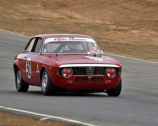 Jack Perkins with 1967 Alfa Romeo GTA in  Group 2 at the 2015 Season Finale at Thunderhill Raceway