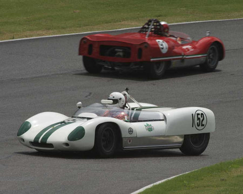 Robert Bodin with 1960 Lotus 19 in Group 3 at the 2015 HMSA Barber Historics