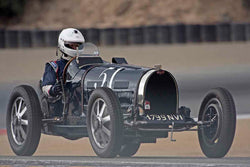 Derek Hill - 1931 Bugatti Type 51 in Group 2A - 1927-1951 Racing Cars at the 2017 Rolex Monterey Motorsport Reunion run at Mazda Raceway Laguna Seca