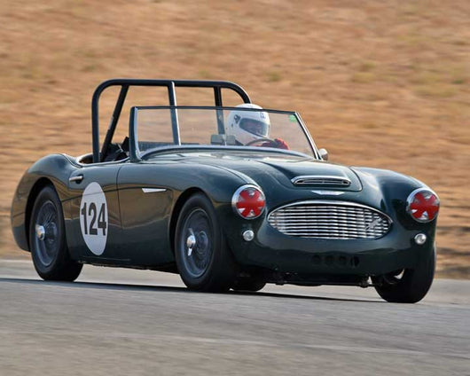 Gary Black with 1960 AustinwithHealey 3000 in  Group 1 at the 2015 Season Finale at Thunderhill Raceway