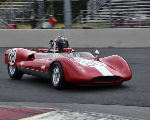 Tom Tuttle with 1961 Huffaker Genie in Group 4 - Limited-Production Sports Racing Cars Prior to 1960 at the 2015 Portland Vintage Racing Festival at Portland International Raceway