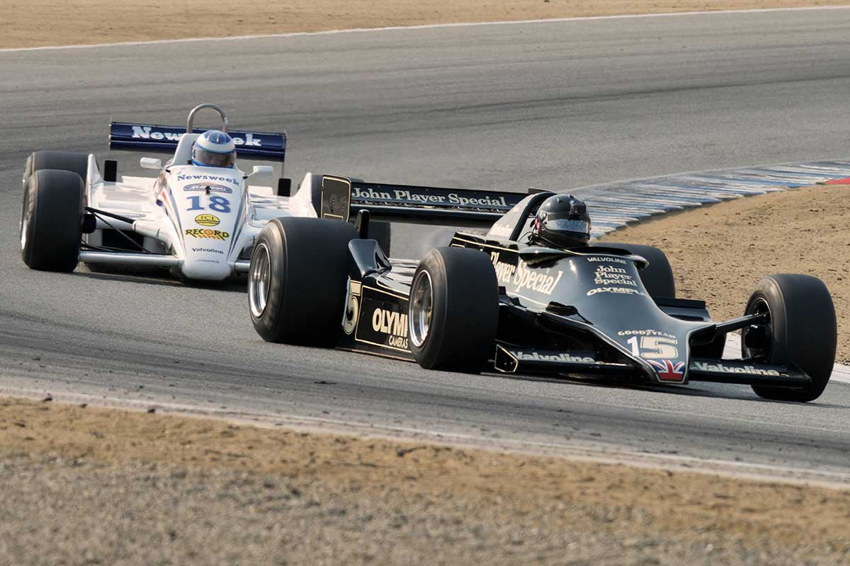 Duncan Dayton - 1978 Lotus 79 in Group 7B  at the 2016 Rolex Monterey Motorsport Reunion - Mazda Raceway Laguna Seca