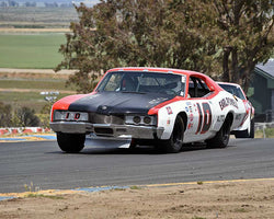 Craig Conley with 1971 Holman Moody Mercury Cyclone in Group 5 - Grand National Stock Cars at the 2015 Sonoma Historic Motorsports Festival at Sonoma Raceway