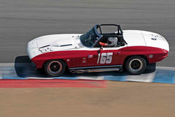 Chris Springer - 1965 Chevrolet Corvette in Group 4B - 1963-1966 GT Cars over 2500cc at the 2017 Rolex Monterey Motorsport Reunion run at Mazda Raceway Laguna Seca
