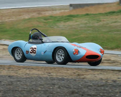 Steven Byrnes with 1965 Ginetta G4 in Group 5 -  at the 2016 HMSA Spring Club Event - Mazda Raceway Laguna Seca