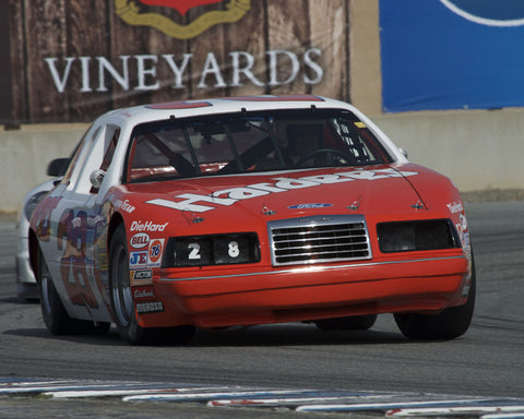 Gary Goereinger driving his Ford T-Bird in Group 7 at the 2015 HMSA Spring Club Event at Mazda Raceway Laguna Seca