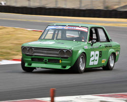 Bill Ockerlund with 1972 Datsun 510 in Group 8 - Production Sports Cars and Sedan 1973-1985 at the 2015 Portland Vintage Racing Festival at Portland International Raceway