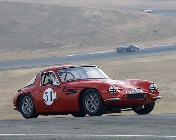 Rick Carlile with 1967 TVR Vixen S2 in  Group 2 at the 2015 Season Finale at Thunderhill Raceway