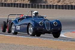 Tim Barnes - 1951 Jaguar XK120 in Group 5A - 1947-1955 Sports Racing and GT Cars at the 2017 Rolex Monterey Motorsport Reunion run at Mazda Raceway Laguna Seca
