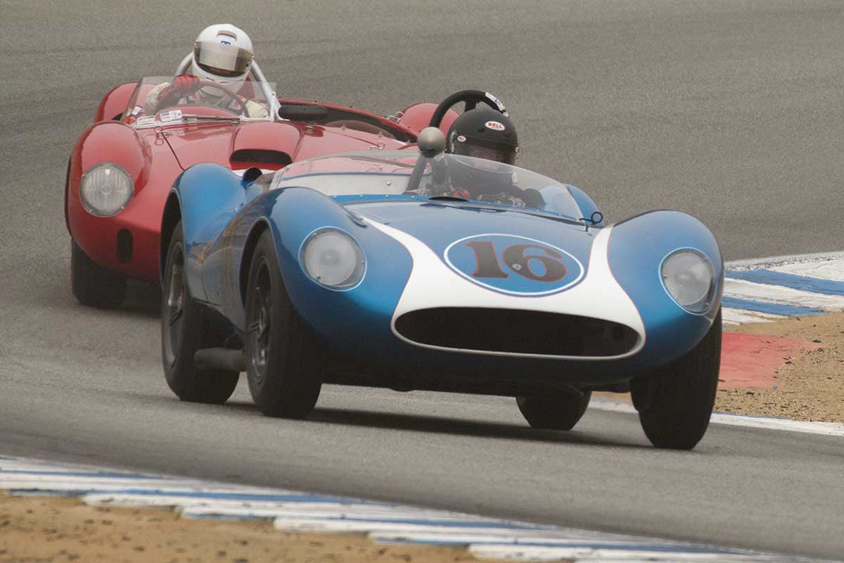 David Swig - 1958 Scarab Mk I in Group 2A  at the 2016 Rolex Monterey Motorsport Reunion - Mazda Raceway Laguna Seca