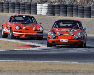 Dennis Singleton with 1968 Porsche 911 TR in Group 3 - Eifel Trophy at the 2015 Rennsport Reunion V, Mazda Raceway Laguna Seca