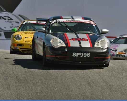 Bill Smith with 2003 Porsche 996 in Group 1 - PCA Sholar-Friedman Cup at the 2015 Rennsport Reunion V, Mazda Raceway Laguna Seca