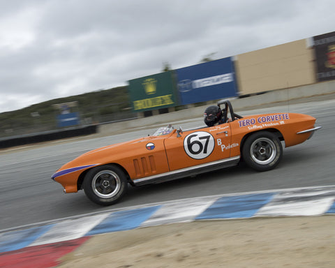 Jeni Yeakel-Swanson driving her Chevrolet Corvette in Group 6 at the 2015 HMSA Spring Club Event at Mazda Raceway Laguna Seca