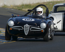 Tancredi DAmore driving his 1957 Alfa Romeo Giulietta Spider in Group 1 at the 2015 CSRG David Love Memorial Vintage Car Road Races at Sonoma Raceway
